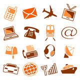 Telecom & transport icons Stock Photo
