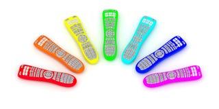 Telecomandi dei colori del Rainbow Fotografie Stock