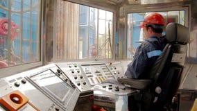 Telecomando dell'impianto di perforazione della trivellazione petrolifera video d archivio