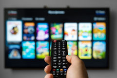 Telecomando della TV Fotografie Stock