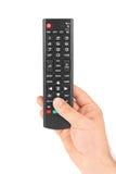 Telecomando della TV disponibile Fotografie Stock