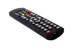 Telecomando della TV isolato su priorità bassa bianca Fotografie Stock Libere da Diritti