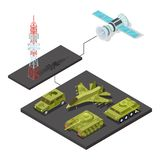 Telecomando di attrezzatura militare con Wi-Fi royalty illustrazione gratis