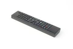 Telecomando nero della TV isolato su bianco Fotografie Stock