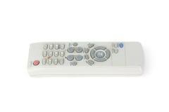 Telecomando utilizzato della TV isolato su bianco Immagini Stock Libere da Diritti