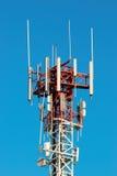 Telecommunicate la colonna Immagine Stock