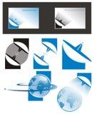 Telecommunicatie embleem stock illustratie