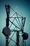Telecommunicatie radiotoren Stock Foto's