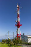 Telecommunicatiemast Royalty-vrije Stock Foto's