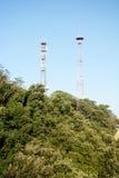 Telecommunicaties, antennes, technologie, mensentechnologie Royalty-vrije Stock Afbeeldingen