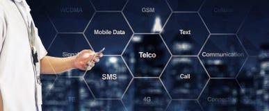 Telecommunicatietypografie Stock Foto