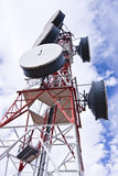 Telecommunication antenna Stock Photo
