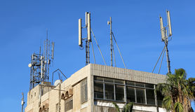 Telecommunication antenna and equipment Royalty Free Stock Photography