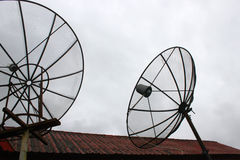 Telecommunication antenna Stock Images