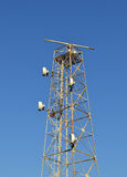 Telecommunication antenna with radar Royalty Free Stock Image