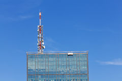 Telecommunication antenna Royalty Free Stock Photo