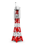 Telecommunication antenna tower Royalty Free Stock Photo