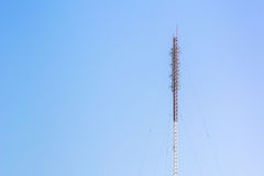 Telecommunication antenna tower, Radio antenna tower, Cellular a Royalty Free Stock Photography