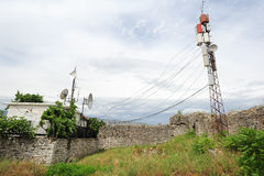 Telecommunication antennas of Berat Royalty Free Stock Images