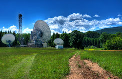 Telecommunication Antennas. In the mountains Royalty Free Stock Photography