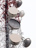 Telecommunication broadcast tower Royalty Free Stock Images