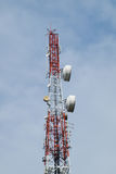 Telecommunication, Broadcasting tower Royalty Free Stock Image