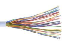 Telecommunication cable. Isolated on white background Royalty Free Stock Photo