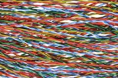 Telecommunication cables stock photo