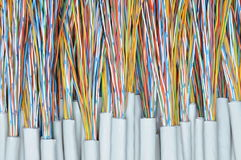 Telecommunication cables Stock Images
