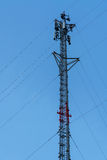 Telecommunication Cell Phone Antenna Tower Stock Photo