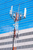 Telecommunication & cell phone towers Royalty Free Stock Photos
