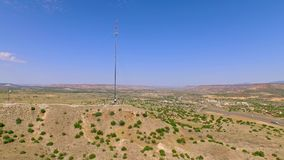 Telecommunication cell tower in the country stock video