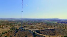 Telecommunication cell tower in the country stock video footage