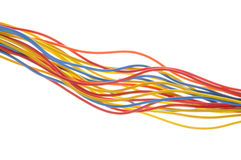 Telecommunication computer network cables Royalty Free Stock Image