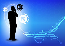 Telecommunication concept background Stock Photo