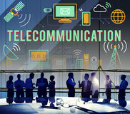 Telecommunication Connection Links Networking Concept stock photos