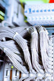 Telecommunication E1 line in a datacenter mobile o Royalty Free Stock Photo