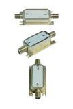Telecommunication equipment on white background Stock Photos