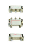 Telecommunication equipment on white background Royalty Free Stock Images