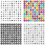 100 telecommunication icons set vector variant. 100 telecommunication icons set vector in 4 variant for any web design isolated on white Vector Illustration