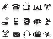 Telecommunication icons. Telecommunication icons set from white background Royalty Free Stock Photography