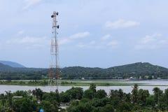 Telecommunication mast Royalty Free Stock Images