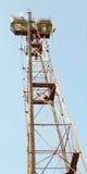 Telecommunication mast Stock Photos