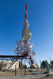 Telecommunication mast  antennas Stock Image