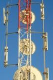 Telecommunication mast detail Royalty Free Stock Image