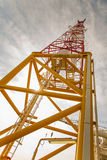 Telecommunication mast with microwave link Royalty Free Stock Photography