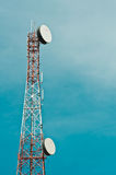 Telecommunication mast with sky Stock Photography