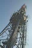 Telecommunication mast TV antenna Stock Photo