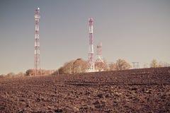 Telecommunication mast TV Stock Image