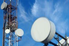 Telecommunication mast TV antennas Royalty Free Stock Photography